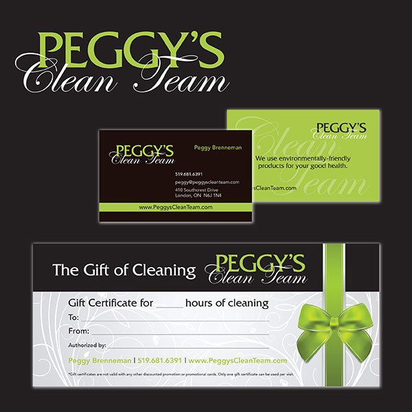Cleaning company gift certificates